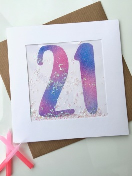 Pink Ombre - 21 - Card