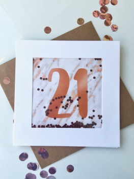 Rose Gold and Marble - 21 - Card