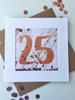 Rose Gold and Marble - 25 - Card