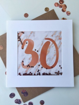 Rose Gold and Marble - 30 - Card