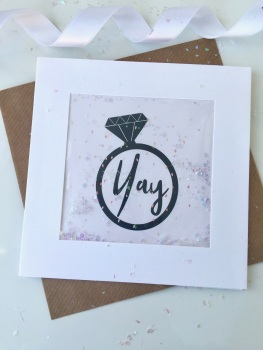 Pink Speckled - Yay Ring - Card