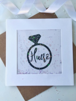 Pink Speckled - Hwre Ring - Card