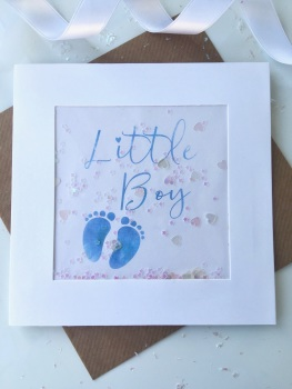 Blue Little Feet - Little Boy - Card