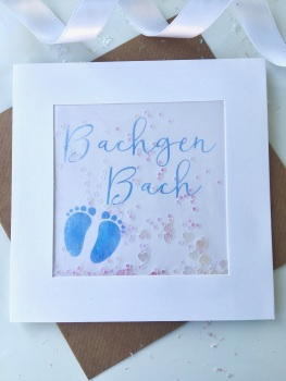 Blue Little Feet - Bachgen Bach - Card