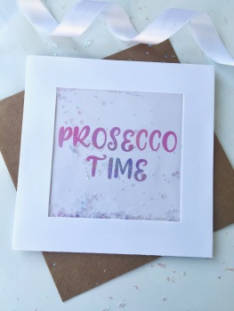Pink Ombre - Prosecco Time - Card