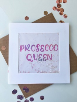 Pink Ombre - Prosecco Queen - Card