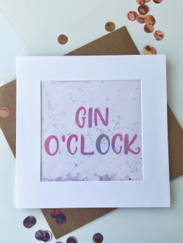 Pink Ombre - Gin O'Clock - Card