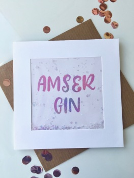 Pink Ombre - Amser Gin - Card