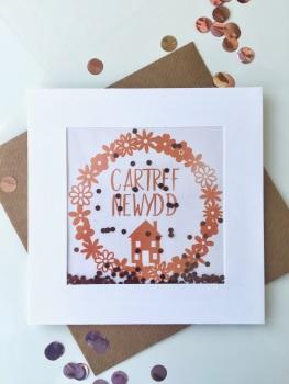 Rose Gold - Cartref Newydd - Card
