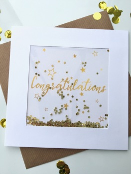 Gold Starry - Congratulations - Card