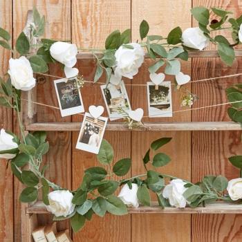 White Rose Vine Garland