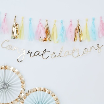 Congratulations Bunting - Gold