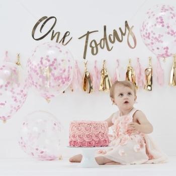 First Birthday Cake Smash Kit - Pink