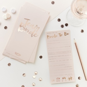 Bride To Be - Advice Cards