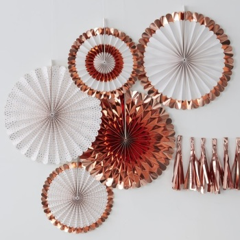 Fan Decorations - Rose Gold