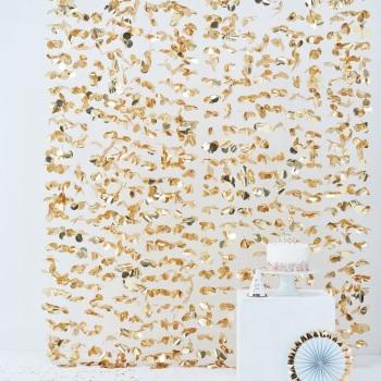 Floral Backdrop - Gold
