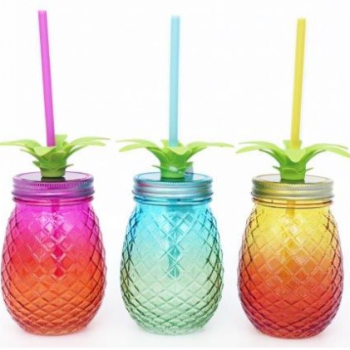 Pineapple Drinking Jar
