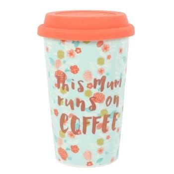 This Mum Runs On Coffee - Travel Mug