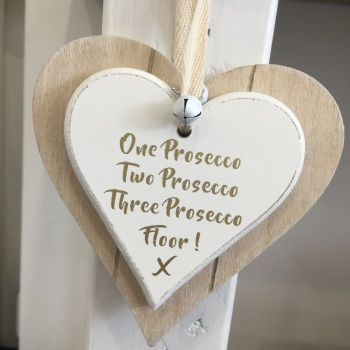Prosecco Heart - Hanging Decoration