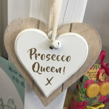 Prosecco Queen Heart - Hanging Decoration