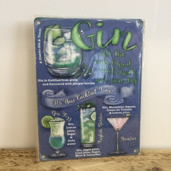 Gin - Metal Sign
