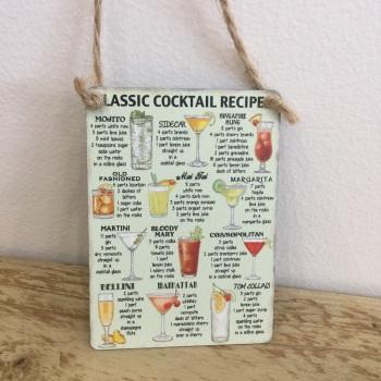 Mini Classic Cocktails - Metal Sign