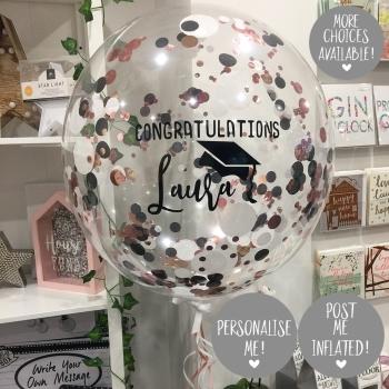 Confetti Bubble Balloon - Graduation