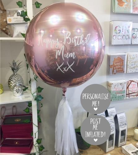 Personalised rose gold balloon | CeFfi