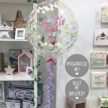 Confetti Bubble Balloon - Unicorn