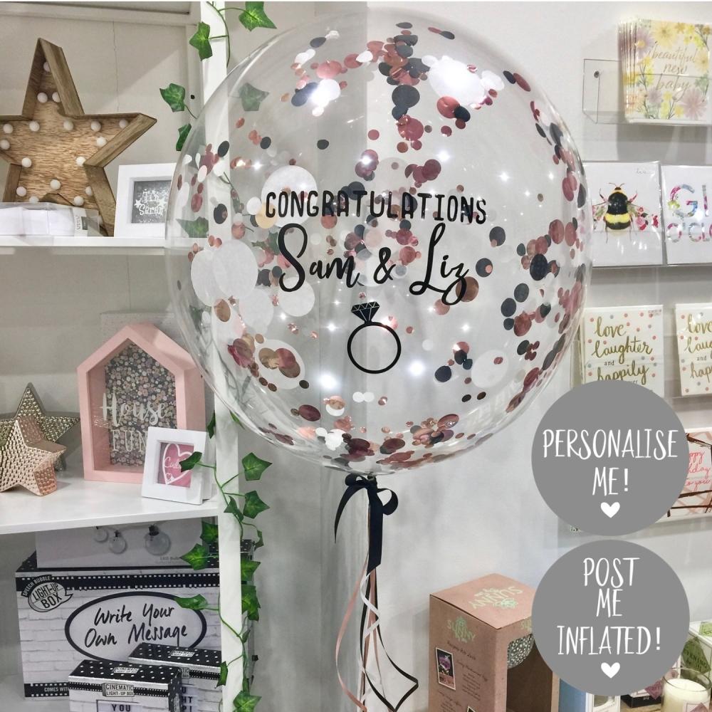 Confetti Bubble Balloon