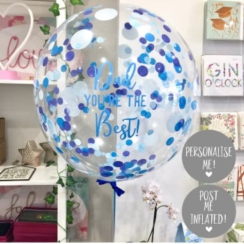 Confetti Bubble Balloon - Dad You're The Best!