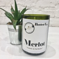 <!--002-->Merlot - Bottle Candle
