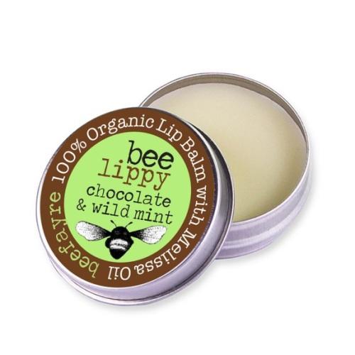 Chocolate & Mint Lip Balm, beefayre lip balm, gift shop north wales | CeFfi