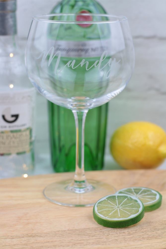 Personalised gin glass, personalised cocktail glass | CeFfi