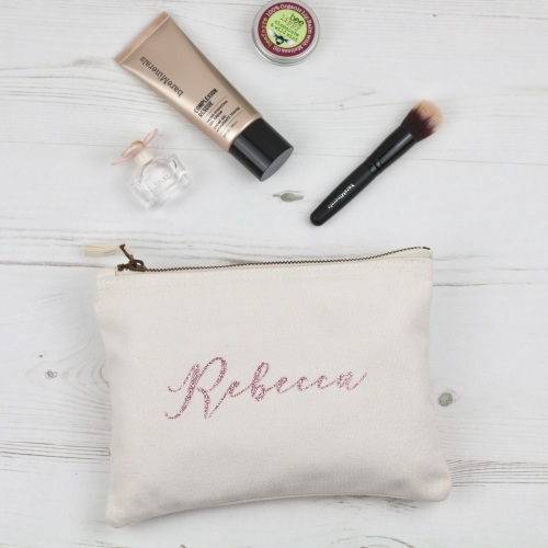 Personalised pouch bag, glittery personalised pouch | CeFfi