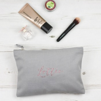 Personalised Pouch - Grey