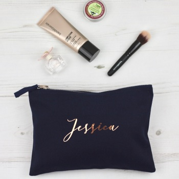 Personalised Pouch - Navy