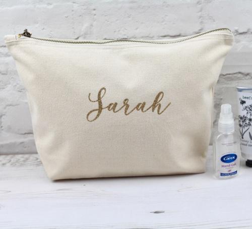 Personalised wash bag, personalised cotton bag, large personalised bag | Ce