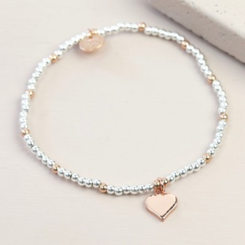 Heart Bracelet - Rose Gold