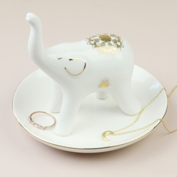 Elephant - Jewellery Dish/Trinket