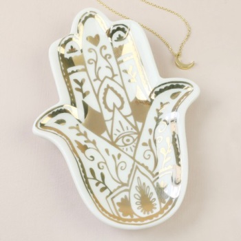 Gold Hamsa - Jewellery Dish/Trinket