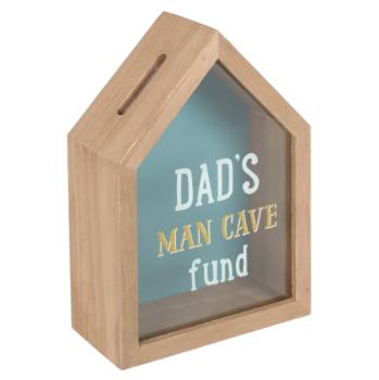 Dad's Man Cave Fund - Money Box