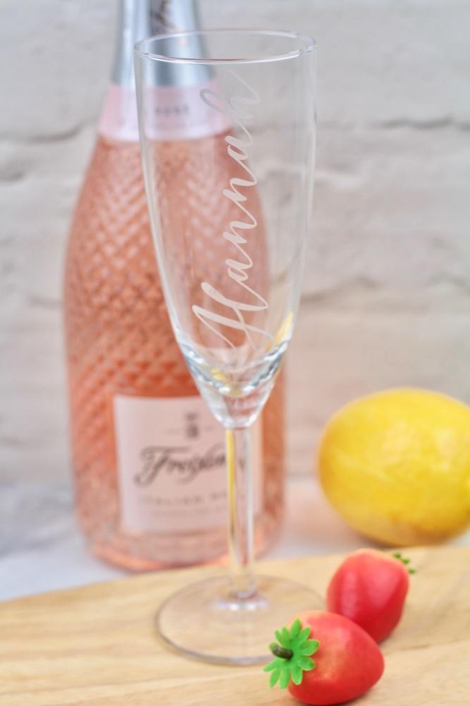 Personalised prosecco glass, prosecco lover gift idea, prosecco personalise