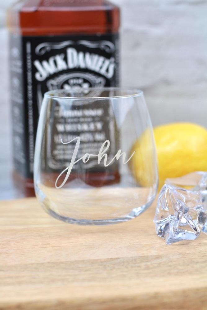 Personalised whiskey glass, personalised tumbler, whiskey glass personalise