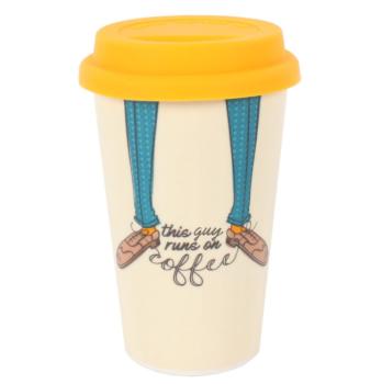 This guy runs on coffee - Travel Mug