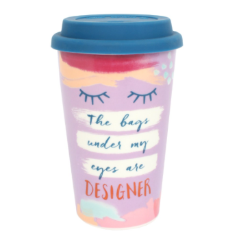 The bags under my eyes are designer - Travel Mug