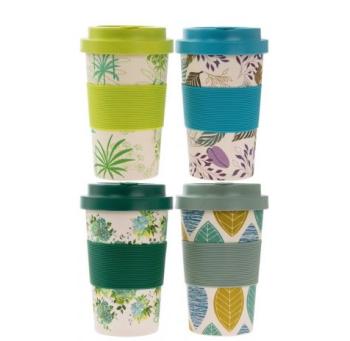 Green Leafy - Bamboo Travel Mug