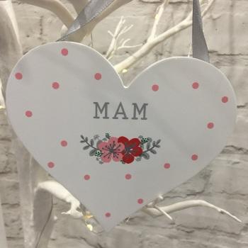 Welsh Heart Decoration - Mam