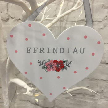 Welsh Heart Decoration - Ffrindiau