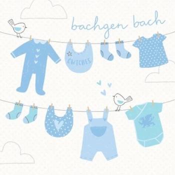 Clothes Line - Bachgen Bach - Card